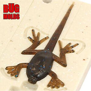Lure Bait Mold Soft Plastic Molde de Cebo Köderform Moule d'appât Real Frog