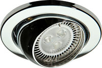 Knightsbridge IP20 12V 50W Max. L/V Chrome Eyeball Downlight Bridge x1