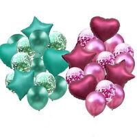 anniversaire ballons mis des confettis ballon bandes métalliques star coeur