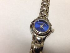 USED Women's Guess Watch Blue Face, Silver, Japan Movt G658321