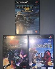 lot Of 3 Ps2 Games Chessmaster Socom 2 MDK 2 Complete Good Condition