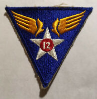 VINTAGE WWII 12TH US ARMY AIR FORCE  MILITARY PATCH WWII ORIGINAL #112819