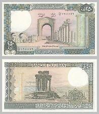 Libanon / Lebanon 250 Livres 1986-1988 p67e unz.