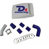 """3L Turbo Intercooler Hose Kit For Toyota Hilux 1KZ-TE Blue 3"""" 2002 03 04 05"""
