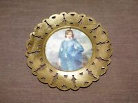 """VINTAGE 6"""" MADE IN ENGLAND VICTORIAN CHILD BRASS BUTTERFLY FRAME WALL PICTURE"""