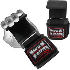 Weight Lifting Hooks Bar Gym Training Bodybuilding Workout Wrist Strap New TMA