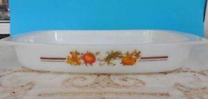 Vintage Pyrex, Milk Glass Arcopal ' Legume' Rectangular Dish Excellent Condition
