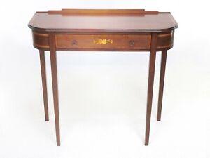 English Antique Mahogany Edwardian Console Side Table