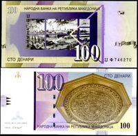 MACEDONIA 100 DENARI 2005 P 16 c UNC