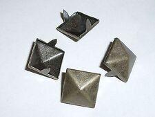 100 Krallennieten Pyramidennieten Nieten 12 x 12mm  altmessing  rostfrei NEUWARE