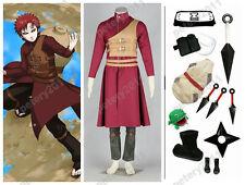 Custom-made Naruto Anime Cosplay Sabaku no Gaara 6th Costume Halloween Set