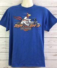 Harley Davidson Warner Brothers Dogs Get It Blue T Shirt Size Large Myrtle Beach