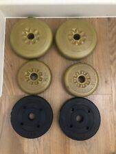 "York Weight Plates 1"" Inch 25mm 9.3kg Dumbbells Barbells 2x 2.3 2x 1.1 2x 1.25kg"
