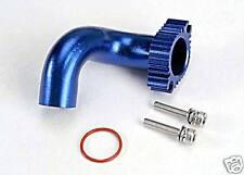 5287 Traxxas RC Car Parts Exhaust Header Blue aluminium Rustler N.4 Tec TRX 2.5