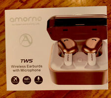 Wireless Earbuds, Gold AMORNO True Bluetooth Headphones In-Ear