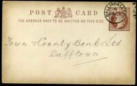 1893 *BALLINDALLOCH* CDS Postal Stationery QV ½d Brown Card