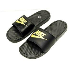 Nike Benassi JDI Black Gold Men's Slides slide 11 flip flop