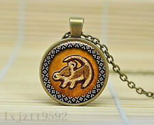 Lion King Simba Rafiki Totoro Pendant Necklace Glass Cabochon Necklace Jewelry