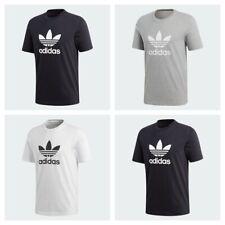 Adidas Mens Trefoil Logo T Shirt TShirt Crew Top Cotton Tee T-Shirt Jersey Size