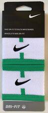 Nike Stealth Wristbands Singlewide Court Logo Spring Leaf/White