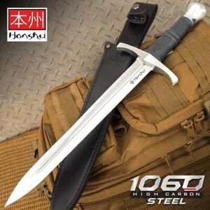 """19"""" HONSHU CRUSADER Fixed Blade SWORD KNIFE Medieval Dagger Tactical Excalibur"""