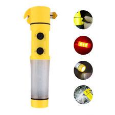 4 In 1 Multifunctional Car Emergency LED Flashlight Safety Hammer Escape Tool