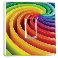 Cool multi colour 3D Swirl Optical Illusion light switch cover (30118897)