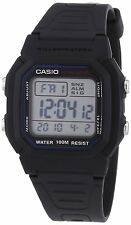 Casio Men's Digital Multi Function Day And Date Stop Watch, Black, W-800H-1AVES