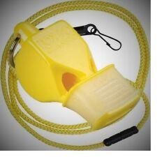 Fox 40 Sonik Blast CMG Whistle Lanyard Referee Coach Outdoor Dog Safety YELLOW