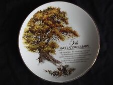 """Avon """"5th Anniversary"""" The Great Oak Tree Collectable Plate . 1987!"""