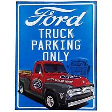 FORD Motor Company TRUCK PARKING ONLY V8 F100SIGN TIN EMBOSSED SIGN
