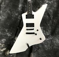 Starshine Good Job Electric Guitar White Color  Active Pickups Ebony Fingerboard