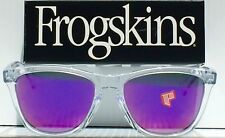 NEW* Oakley Frogskins Clear Crystal w POLARIZED Purple Galaxy Sunglass oo9245