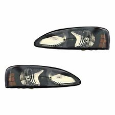 Fits 04-08 Pontiac Grand Prix Driver + Passenger Headlight Lamp Assembly 1 Pair