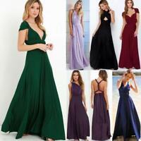 Women's Way Multi Dress Sundress Bridesmaid Evening Wrap Convertible Long Formal