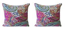 Indian Handmade Cotton Hippie Bohemian Ethnic Kantha Cushion Cover 16X16 Set-2