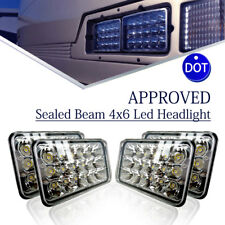 "4pcs DOT Approved 4x6"" LED Headlights Bulb for Peterbilt Freightliner Kenworth"