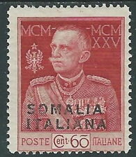 1925-26 SOMALIA GIUBILEO 60 CENT D.13 1/2 MH * - I48-2