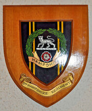 5th Battalion Hampshire Regiment regimental mess wall plaque shield crest
