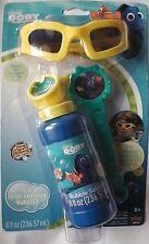 New Disney Finding Dory 3D Bubble Maker Wand Solution Glasses Spill Stopper Kids