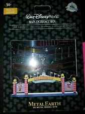 NEW Disney Parks Metal Earth 3D Model Kit Walt Disney World Main Entrance Sign