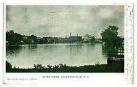 1906 River Scene at Baldwinsville, NY Postcard