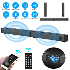 Bluetooth Wireless Usb Rca Aux Speaker Soundbar Home Theater Tv Stereo Subwoofer