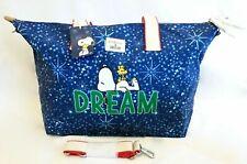 Cath Kidston x Snoopy Blue Dream Travel Bag Overnight Crossbody Handbag Peanuts