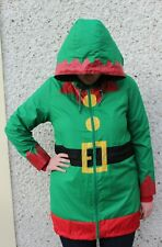 Christmas Novelty Elf Rain Jacket Size S 10-14.