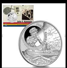 2017 1 oz Silver John F. Kennedy JFK Solomon Islands $1 Coin .999 Fine (In Assay