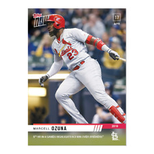 2019 TOPPS NOW #102 MARCELL OZUNA 5TH HR IN 4 GAMES HIGHLIGHTS WIN CARDINALS