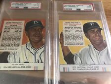 1953 & 1954 Red Man ROY CAMPANELLA, PSA 2 & 4. Both Cards With Tabs!