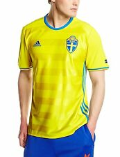 nwt-Adidas SWEDEN Football Soccer UEFA EURO 2016 Jersey Home Shirt Top~Mens sz L