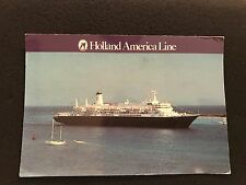 MS Nieuw Amsterdam Holland American Lines Cruise Ship  postcard postmarked 1995